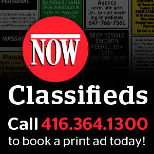 NOW Classifieds. Call now!