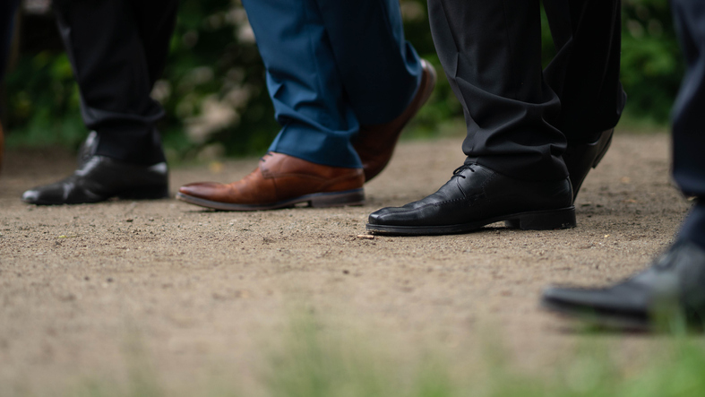 Dress shoes will go a long way to making an outfit look more formal. (Getty Images)