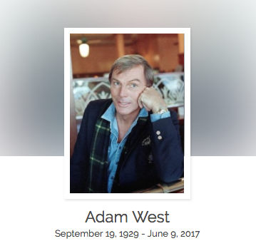 Click here to read Adam West's full obituary story on Beyond the Dash.