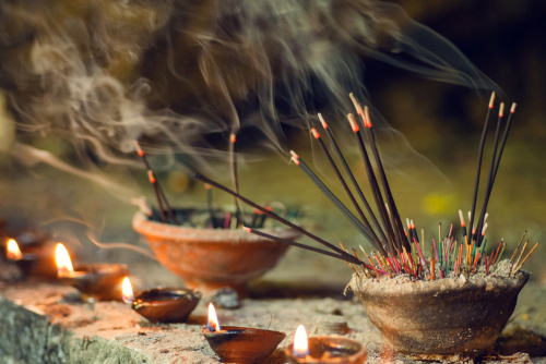 Incense plays an important role in Buddhist rituals, including funerals. (Shutterstock)