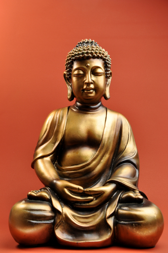 The statue of the Buddha is a meaningful object for Buddhists, and is often present in memorializing of the dead. (Shutterstock)