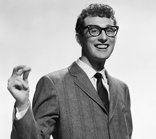 Buddy Holly publicity picture for Brunswick Records. (Wikimedia Commons)