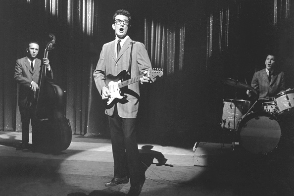 UNITED STATES - CIRCA 1958: Photo of Buddy Holly & The Crickets (Photo by Steve Oroz/Michael Ochs Archives/Getty Images)