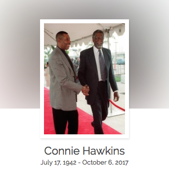 Click here to read Connie Hawkins' full obituary story on Beyond the Dash.
