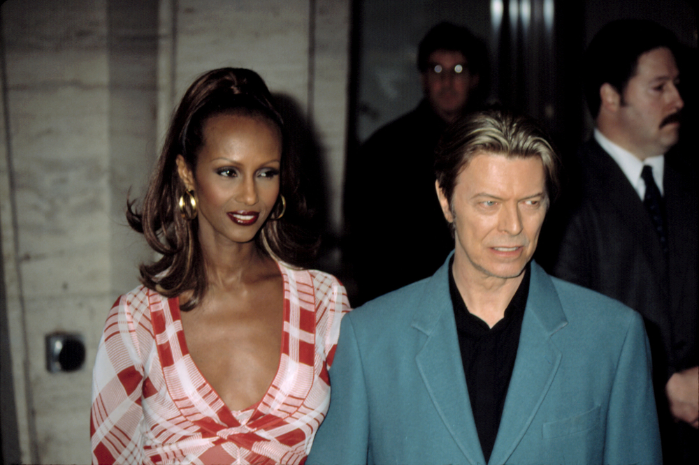 Iman and David Bowie at the Film Society of Lincoln Center honors for Susan Sarandon, NY