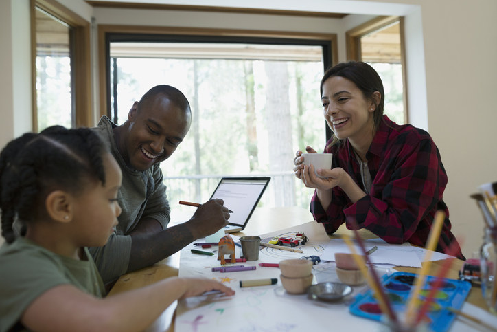 The whole family can be included in a conversation about post-death planning. Depending on age and maturity, this planning may involve children as well. (Getty Images)
