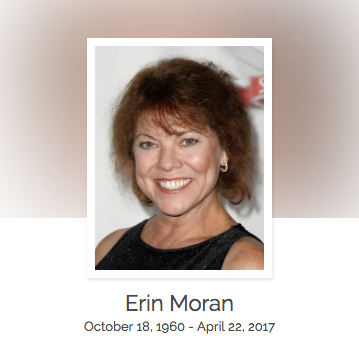 Click here to read Erin Moran's full obituary story on Beyond the Dash.