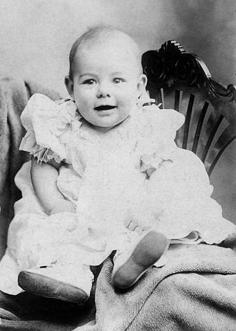 Photograph of Ernest Hemingway as a baby. (Wikimedia Commons)