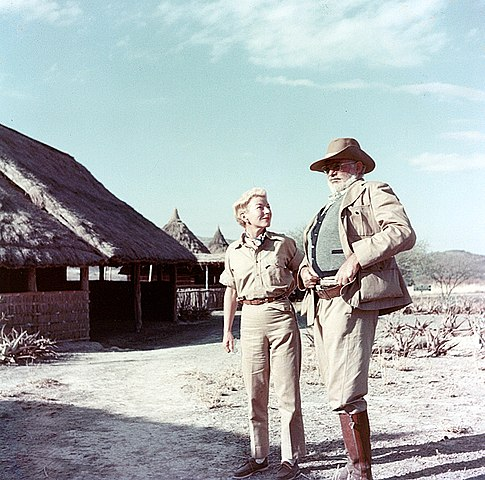 Ernest and Mary Hemingway on safari in Kenya, Africa, 1953-1954. (Photograph in the Ernest Hemingway Photograph Collection, John F. Kennedy Presidential Library and Museum, Boston.)
