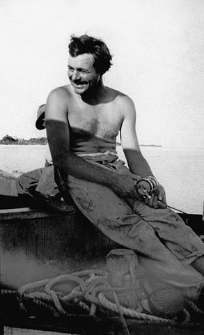 Ernest Hemingway fishing, Key West, 1928. (Ernest Hemingway Photograph Collection, John F. Kennedy Presidential Library and Museum, Boston.)
