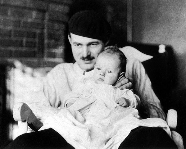 Photograph of Ernest Hemingway with his son John Hadley Nicanor (Bumby). (Photographs: Paris Years, 1922-1930)