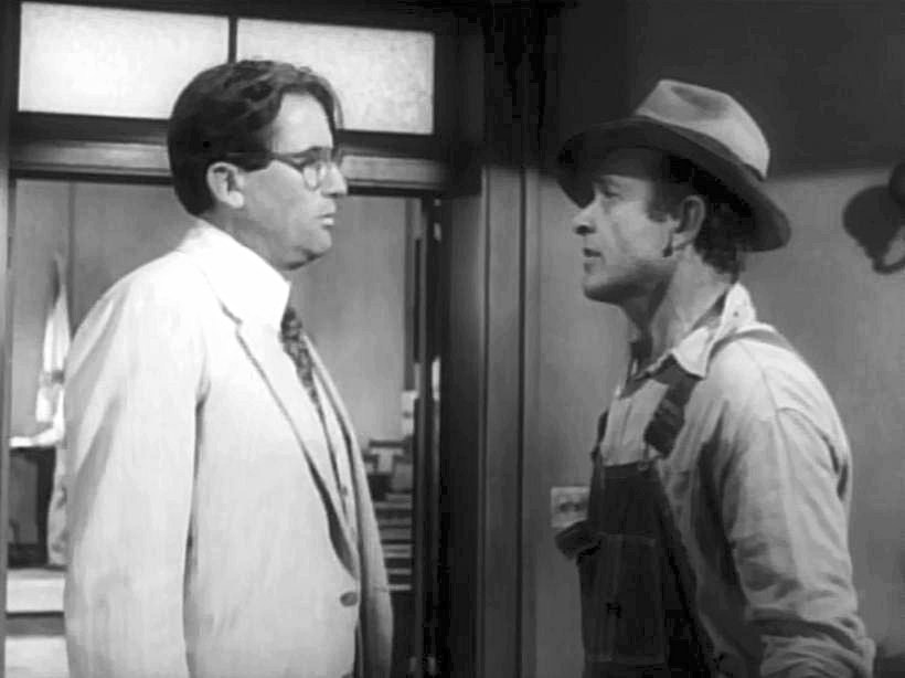 Gregory Peck (lef) & James Anderson in To Kill a Mockingbird
