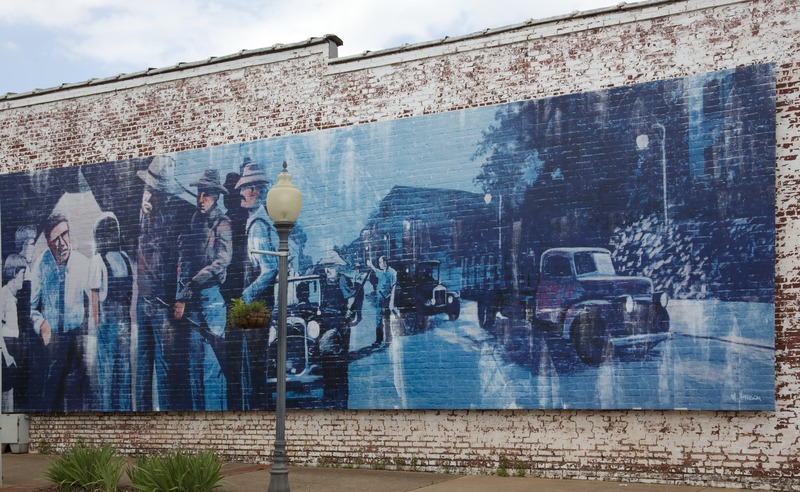 Historic mural depicting the Harper Lee novel,