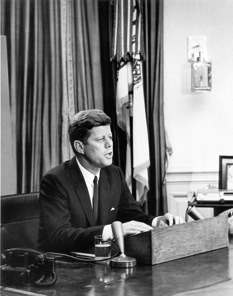 John F. Kennedy addresses nation on Civil Rights. (Abbie Rowe White House Photographs)