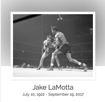 Click here to read Jake LaMotta's full obituary story on Beyond the Dash.