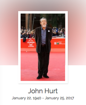 Click here to read John Hurt's full obituary story on Beyond the Dash.