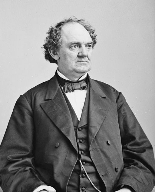 Photograph of P.T. Barnum between 1855 and 1865. (Wikimedia Commons)
