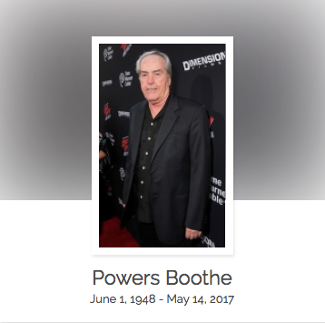 Click here to read Powers Boothe's full obituary story on Beyond the Dash.