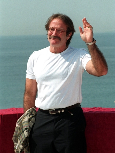 15MAY97: ROBIN WILLIAMS at the 1997 Cannes Film Festival. (Shutterstock)
