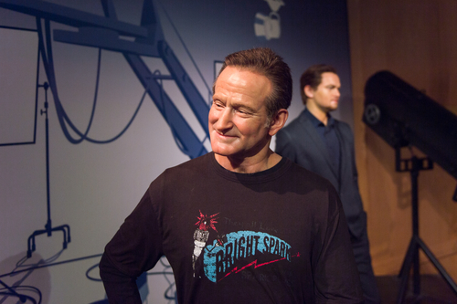 LOS ANGELES, USA - SEP 28, 2015: Robin Williams in the Madame Tussauds Hollywood wax museum. Marie Tussaud was born as Marie Grosholtz in 1761. (Shutterstock)