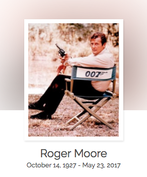 Click here to read Roger Moore's full obituary story on Beyond the Dash.