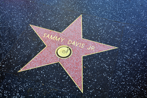 HOLLYWOOD CA USA APRIL 13 2015: Walk of fame star Samuel George