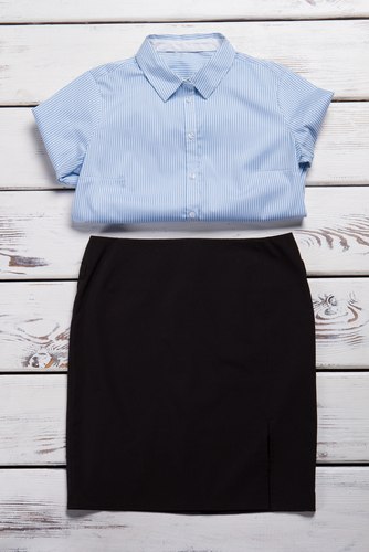 A light blouse with knee-length shorts or a skirt is a popular summer funeral ensemble. (Shutterstock)