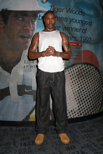 NEW YORK - Dec 6: A wax figure of Tupac Shakur is seen on display at Madame Tussauds on December 6, 2013 in New York City. (Shutterstock)