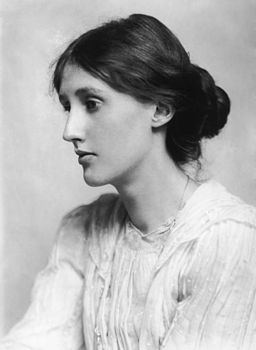 Portrait of Virginia Woolf (January 25, 1882 - March 28, 1941), a British author and feminist, with her chignon. (George Charles Beresford)