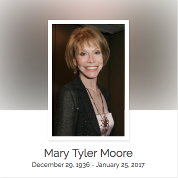Click here to read Mary Tyler Moore's full obituary story on Beyond the Dash.